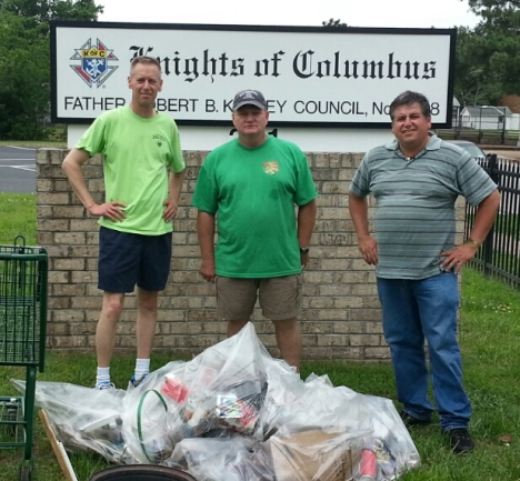 Road Clean Up Crew -  June 8 - Barry, Henry, and Patrick picked up over 100 lbs of garbage on West Government.
